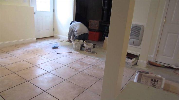Laying Tile Concrete Basement Floor