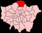 The London Borough of Enfield ( pronunciation (help·info)) is a London borough in North London. It borders the London Boroughs of Barnet, Haringey and Waltham Forest, the districts of Hertsmere, Welwyn Hatfield and Broxbourne in Hertfordshire, and Epping Forest in Essex.