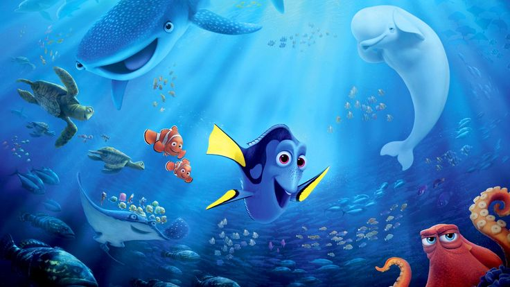 "Finding Dory tell story about ""Dory is reunited with her friends Nemo and Marlin in the search for answers about her past. What can she remember? Who are her parents? And where did she learn to speak Whale?.""."