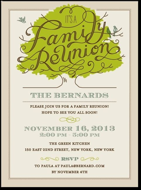 what a cute way to get ready for a family reunion! Paper is pretty, invitations, announcements.