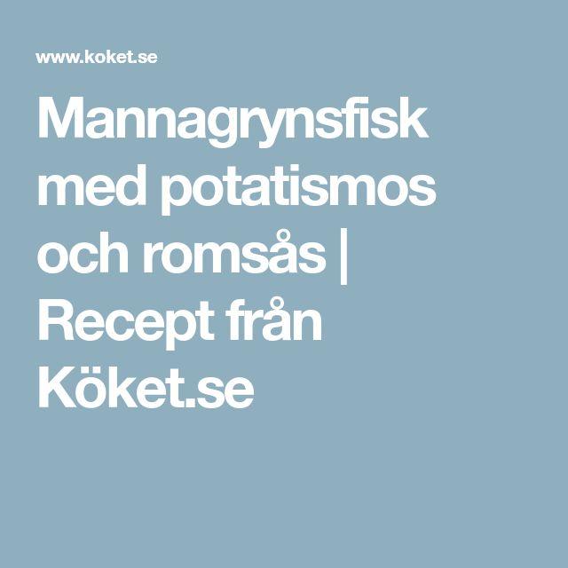 Mannagrynsfisk med potatismos och romsås | Recept från Köket.se