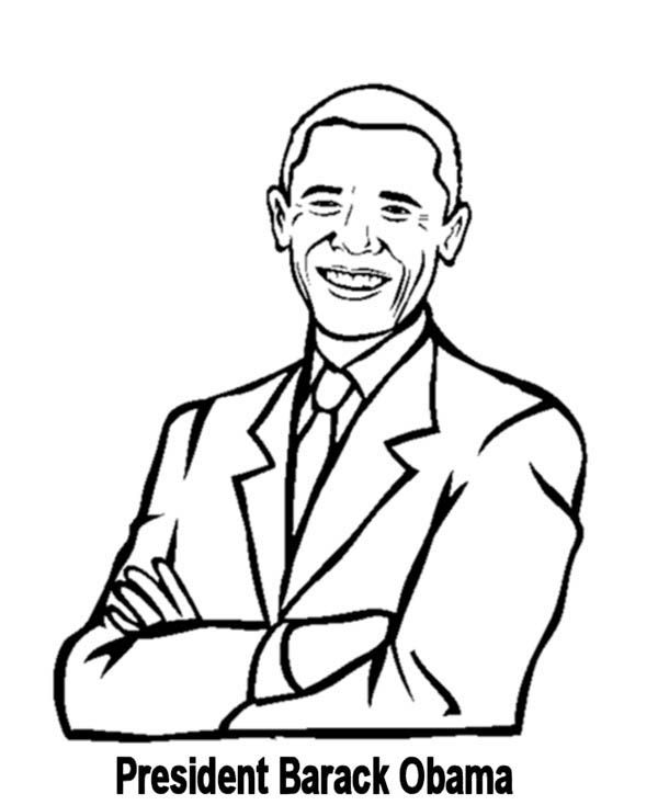 barack obama coloring page # 3
