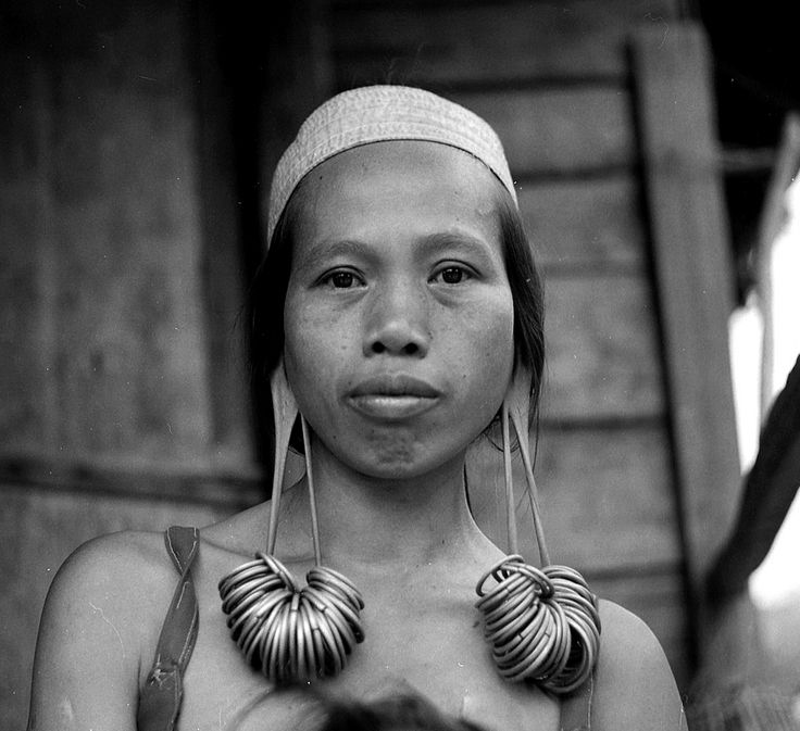 Dayak woman. Dayak people, an ethnic group native to the interior of Borneo island.