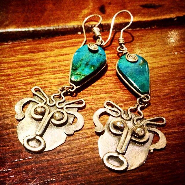 Instagram media by anidealforlivingsthlmab - Nyss inköpta örhängen! Kräver en rejäl rengöring, jag vet.. Bör vara mexikanska. Ska göra min läxa framöver och ta reda på det som går... Underbara hur som!  Ej märkta men kan vara silver…