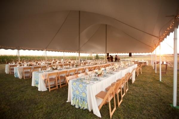 Outdoor circus tent