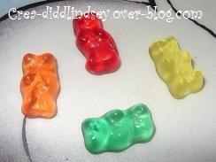 Comment faire des bonbons ours gélifiés en résine avec Oyumaru - Le blog de diddlindsey