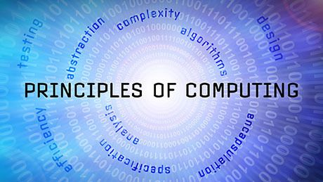 Principles of Computing. This course introduces the basic mathematical and programming principles that underlie much of Computer Science. Student will refine their programming skills as well as learn the basics of creating efficient solutions to common computational problems.