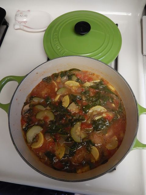Healthy Soup Recipes: Rainy Day Meatball Garden Soup - Low Carb Italian Food