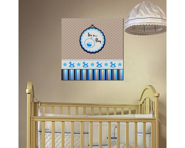 Its a boy! παιδικός - βρεφικός πίνακας σε καμβά,12,90 €,http://www.stickit.gr/index.php?id_product=16973&controller=product