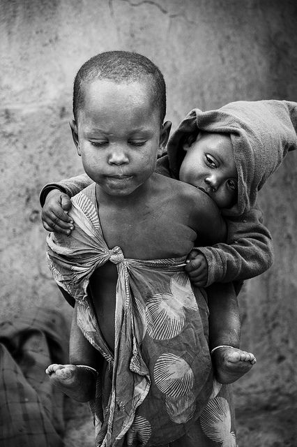 Child poverty in Africa - Masai tribe, Tanzania.
