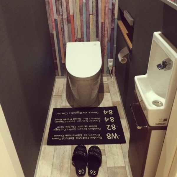 簡単DIY★壁紙だけでこんなに変わる!!トイレをお洒落にセルフリフォームしよう! | ギャザリー