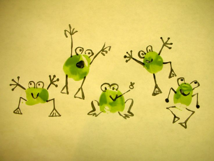 Thumbprint funny frogs                                                       …