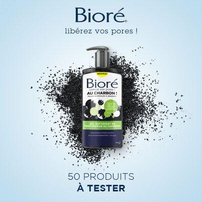 Test produits - Gel Nettoyant en Profondeur au Charbon de Bioré - Nous recherchons 50 testeurs ! Posez votre candidature gratuitement.