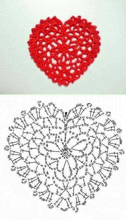 64 best corazones images on Pinterest | Corazones de ganchillo ...