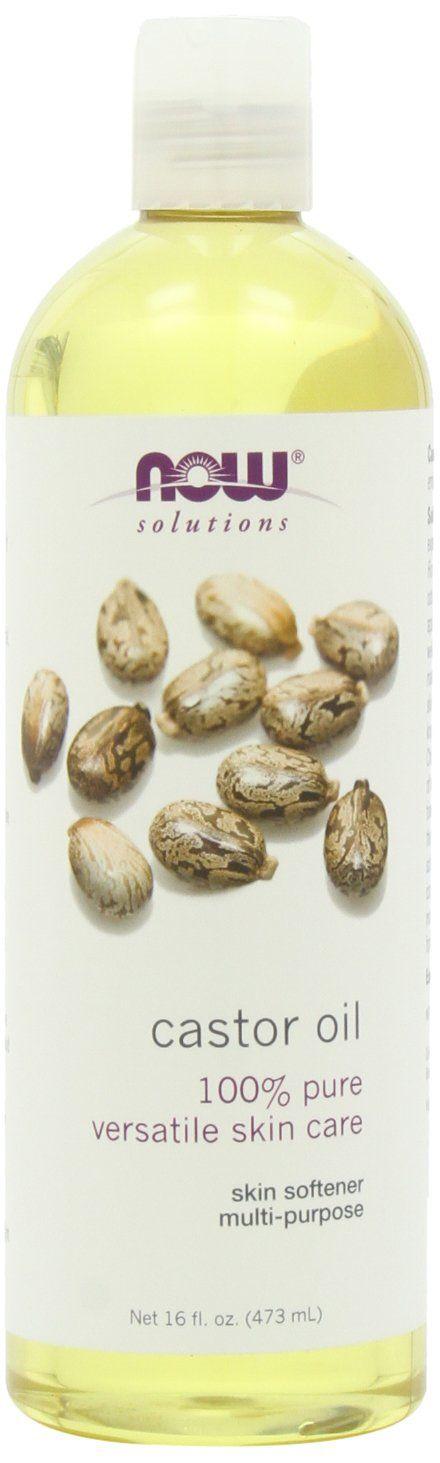 Amazon.com: NOW Solutions Castor Oil, 100 % Pure, 16 ounce: Health & Personal Care for EYELASH SERUM