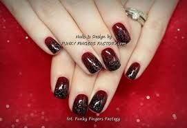 Image result for dark red nail designs