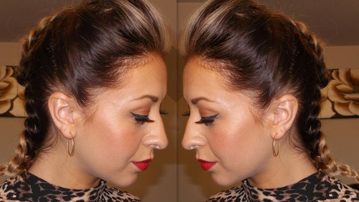 Get Ready With Me: Night Out - Clubbing Hairstyle - Chunky Plait & Quiff...