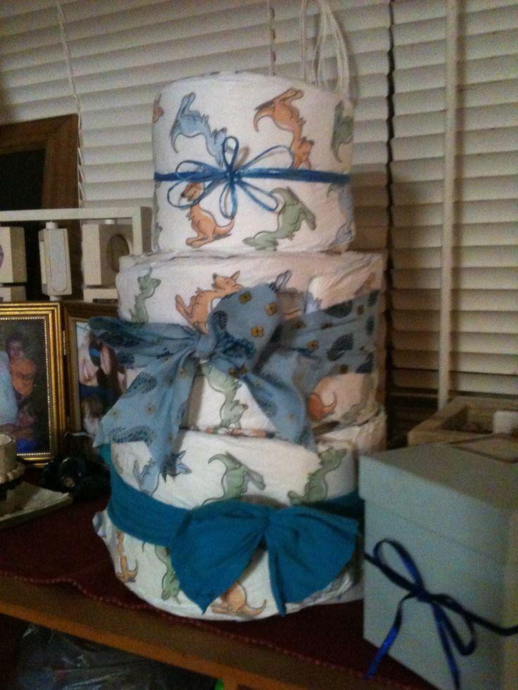 Nappy Cake-  Baby Shower - Boy  June 2013