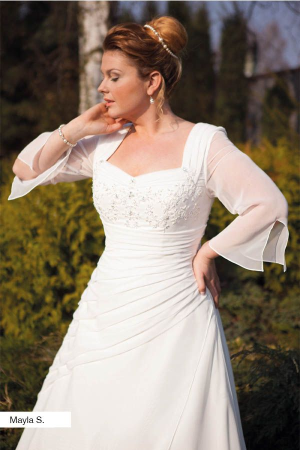 Brautkleid Mayla aus der Lohrengel Brautmoden Kollektion Molly Monroe 2015 :: plus size bridal dress from the 2015 Molly Monroe Collection by Lohrengel