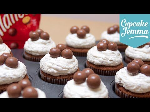 Malteser Cupcake Recipe | Cupcake Jemma - YouTube