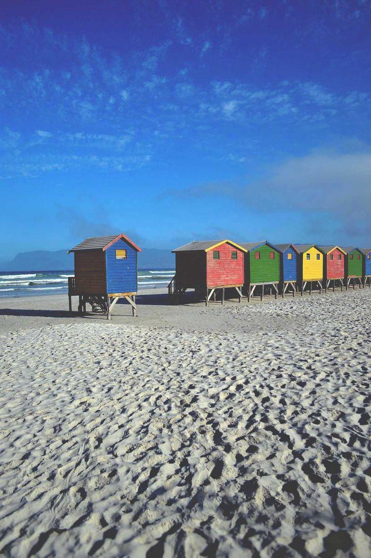 Muizenburg Beach Huts, South Africa | heneedsfood.com