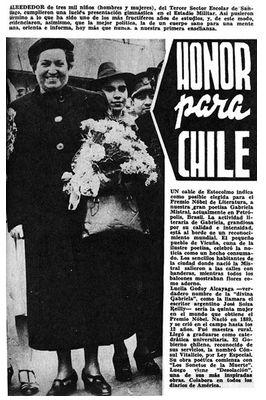 Grabriela Mistral, gran poetisa chilena