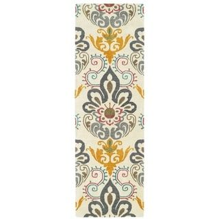 Shop for Hand-Tufted de Leon Ivory Damask Rug (2'6 x 8'). Get free shipping at Overstock.com - Your Online Home Decor Outlet Store! Get 5% in rewards with Club O! - 20652448