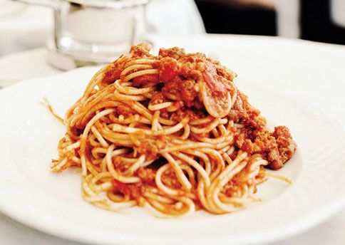 Bucatini all'Amatriciana.. good stuff.. might have to go to a whole foods store to find bucatini though. or just use spaghetti.