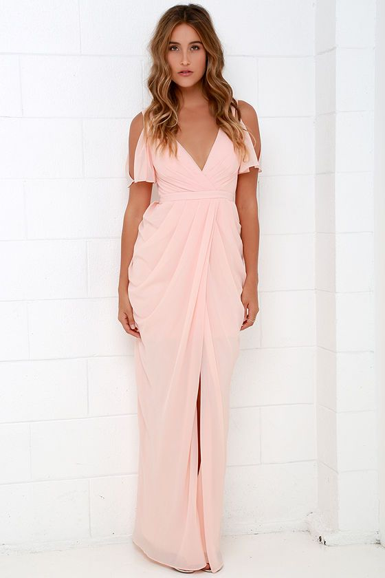 Graze-ful Dancer Peach Maxi Dress | Wedding Guest | $254