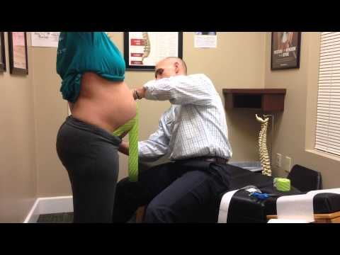 How to kinesio tape pregnancy - video