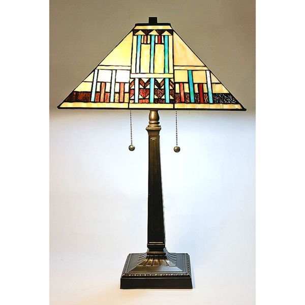 Tiffany Style Blue Mission Table Lamp Ping Great Deals On Serena D Tabletiffany Lampsoutdoor