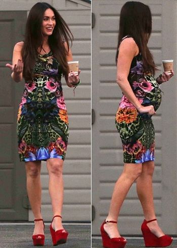 megan fox pregnant in cavalli