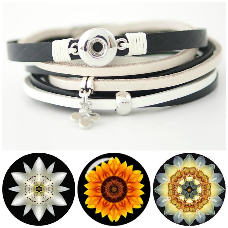 Mini snap bracelet plus 3 mini snap charms. Multi Strand Vegan Leather Bracelet has a magnetic closure and wraps around your wrist twice by Snapdora on Etsy