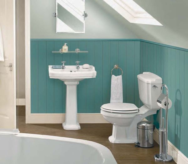 white and blue bathroom color schemes