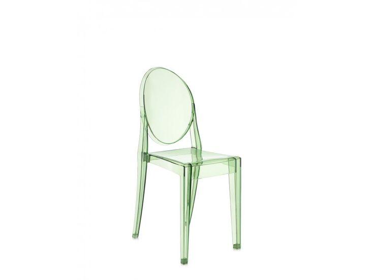 Krzesło Victoria Ghost transparentne zielone — Krzesła Kartell — sfmeble.pl