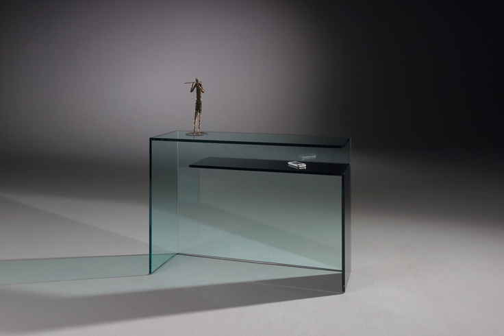 """CONSOLE L - 2 angles, both like a reversed L, seem to """"float"""" on top of each other. For more information: http://www.dreieck-design.com/en/products/console-tables-mirrors/console-L/"""