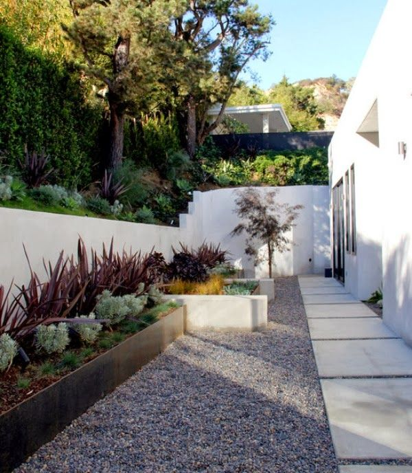 Las 25 mejores ideas sobre patio de bajo mantenimiento en for Murales para patios y jardines