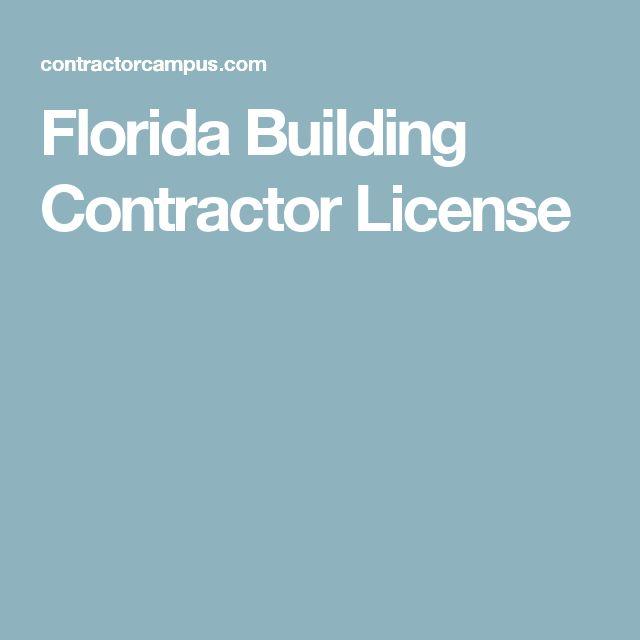 Florida Building Contractor License