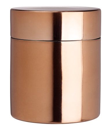 Copper lid with box, $6.95 to $7.95 at hm.com/us | H&M US