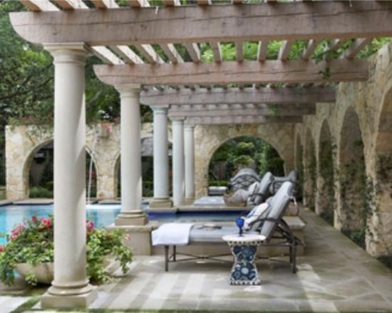 Mediterranean style pergola dallas house designs for French style gazebo