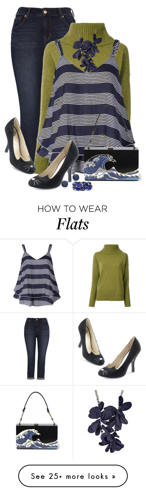 """Flat Out Cool! - Yeah!"" by jakenpink on Polyvore featuring Melissa McCarthy Seven7, Loveless, Lanvin, Kate Spade and Chico's"