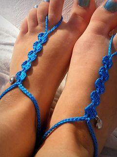 Free pattern! barefoot sandal