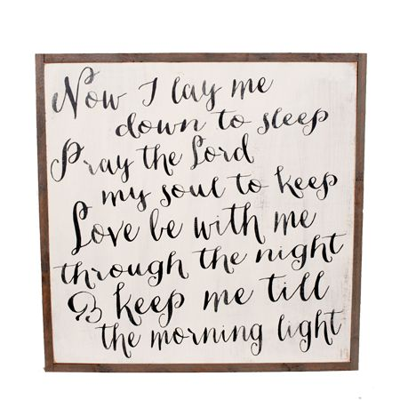 Bedtime Prayer Sign | The Magnolia Market