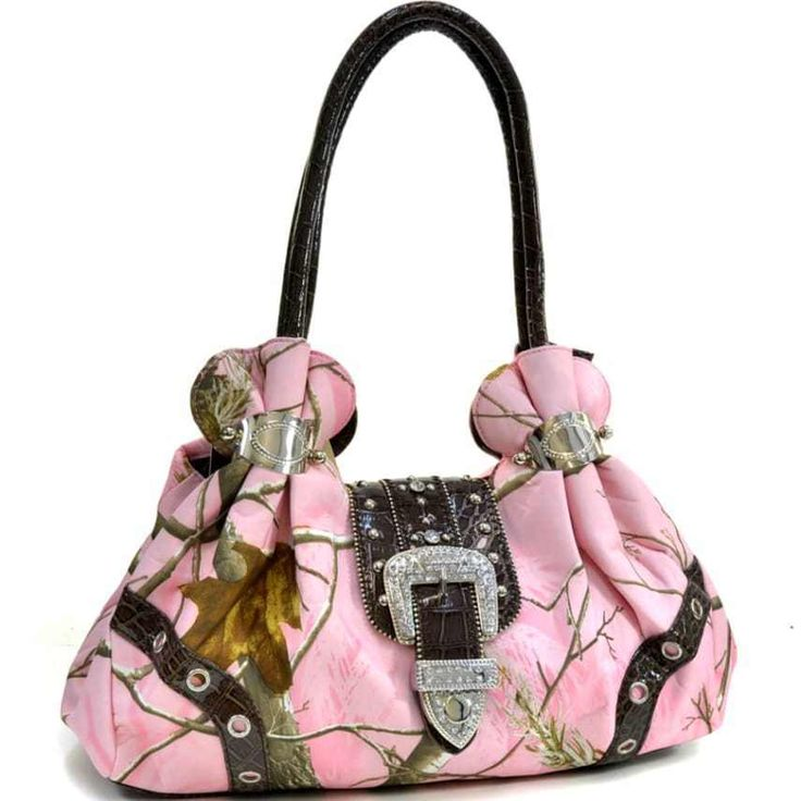 Camo Purse Realtree Camouflage Rhinestone Buckle Womens Shoulder Hand Bag Pink #Doesnotapply #ShoulderBag