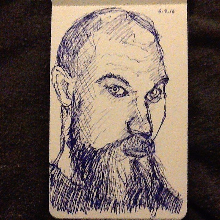 Another beardo - a little too loose. #tw #drawing #sketch #portrait
