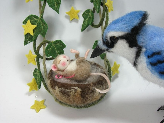 Needle Felted 2 Mouse By Barby Anderson / Blue Jay by Helen Priem | Flickr - Photo Sharing!
