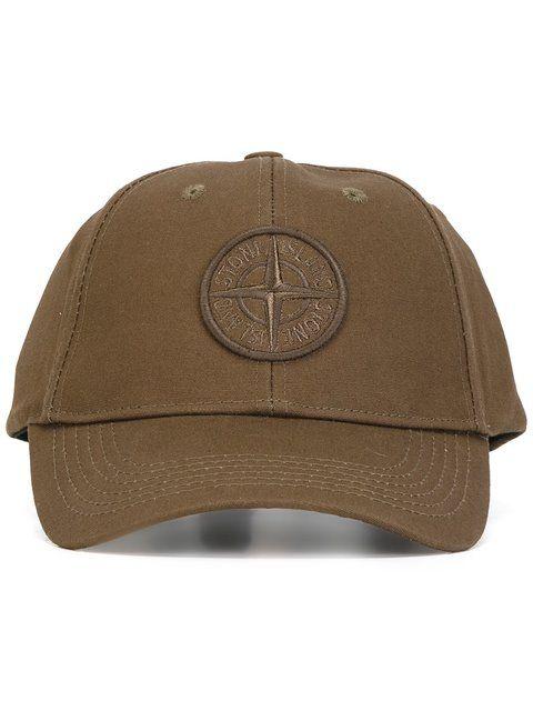 STONE ISLAND logo patch baseball cap. #stoneisland #cap