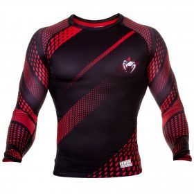 Venum Rapid Rashguard - Long Sleeves - Black/Red - 0