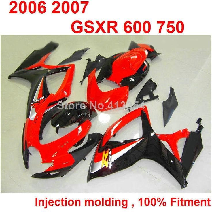 427.70$  Watch now - http://aiijc.worlditems.win/all/product.php?id=32752486466 - 100% fit for Suzuki injection molded GSXR 600 750 K6 K7 06 07 red black fairing kit GSXR 750 2006 2007 NB28
