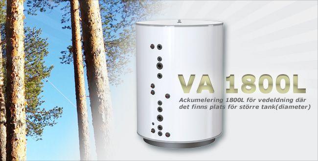 BORÖ VA 1800L Rund isolerad tank för ackumulering vid vedeldning.